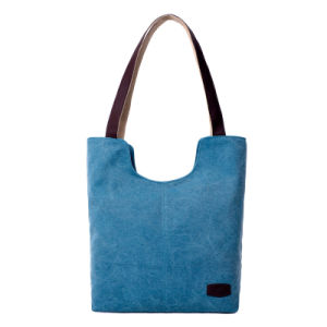 Women Canvas Leisure Tote Bag and Vintage Shopper