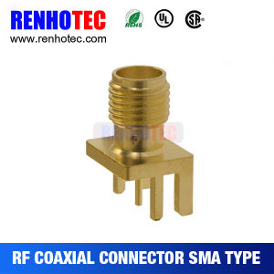 R/a Female to PCB Receptacle Crimp SMA Connector pictures & photos