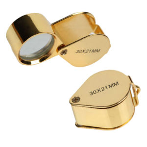 Foldable Jewelry Loupe Gold Arts Appreciation Magnifier Diamond Loupe pictures & photos
