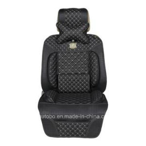 Leatherette Car Seat Cover Flat Shape Cushion/Shoulder Pad