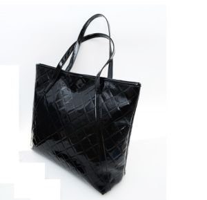 Patterned PVC Leather Patent Leather Shoulder Handbag for Lady pictures & photos