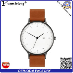 Yxl-023 2016 Vintage Super Thin Hot Selling Custom Logo Ultra Thin Watch with Genuine Leather Strap pictures & photos