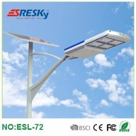 High Power 72W Outdoor Lighting LED Solar Street Light China Factory