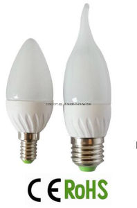 E14/E27 Plastic Plus Aluminum LED Candle Bulb Light pictures & photos