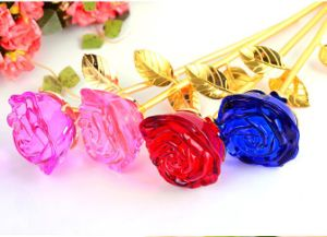 Colorful Glass Flower Crystal Rose as Holiday&Birthday Gift pictures & photos