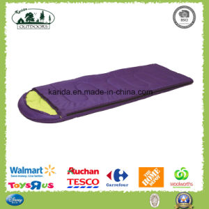 Solid Color Envelop Cap Sleeping Bag with Filling Polyester Fibre