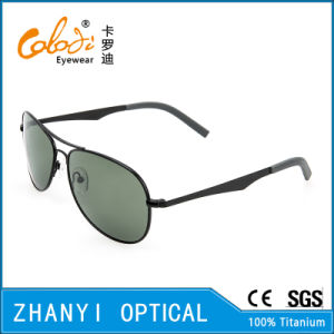 New Arrival Titanium Sunglass for Driving with Polaroid Lense (T3026-C2)