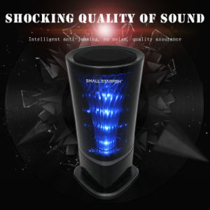 Black Vertical Dynamic Light Bar Regulates Small Speakers