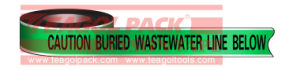 Detectable Warning Wastewater Line Tape pictures & photos