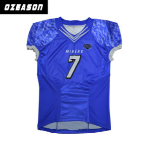 China Blue American Football Uniforms Polyester Youth Football ...