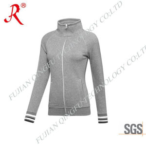 2015 Fashion Women′s Sweat Jacket with High Quality (QF-4096)