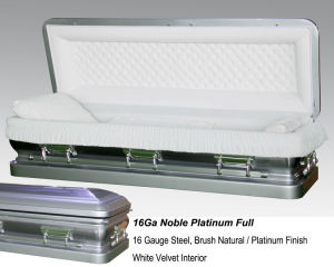 16ga Nable Platinum Full Couch Casket