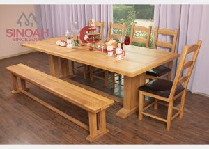 Solid Oak Wooden Extending Dining Table for Sale