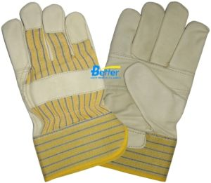 Cow Grain Leather Patched Palm Work Gloves (BGCL101)