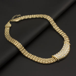 Europe and The United States Foreign Trade Burst Gold-Plated Four-Piece Jewelry New Diamond-Plated Alloy Necklace Bracelet Suit pictures & photos