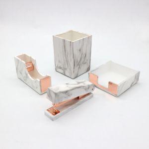 Marble Stationery Marble Stapler Marble Pen Holder Marble Tape Dispenser