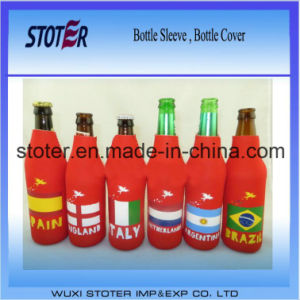 Football Fan Country Design Bottle Cooler Sleeve