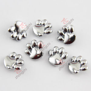 Metal Silver Paw Slider Charm Wholesale (JP08)