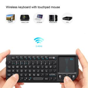 Zoweetek 2.4GHz Mini Handled Wireless Keyboard&Touchpad&Laser Pointer&Backlit (ABS keys) Zw-51006V3