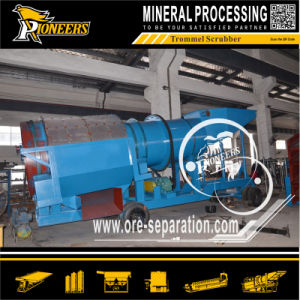 Small Mobile Gold Mining Sand Washing Trommel Scrubber (diesel power)
