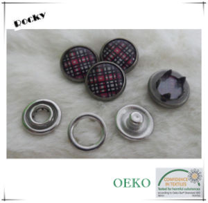 Fashion Style Pearl Prong Snap Metal Button for Garment