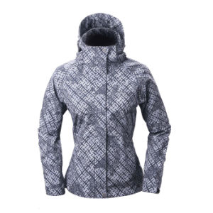 2015 Women Skinny Outdoor Casual Printing Softshell Jacket pictures & photos