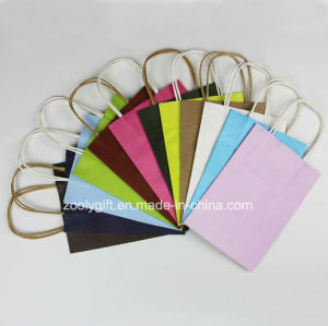Various Color Kraft Paper Gift Bag /Mini Kraft Paper Handle Bags pictures & photos