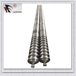 Twin Conical Screw Barrel for PVC Extruder Machine