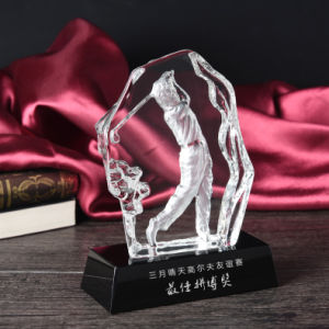 Iceberg K9 Crystal Trophy for Golf pictures & photos