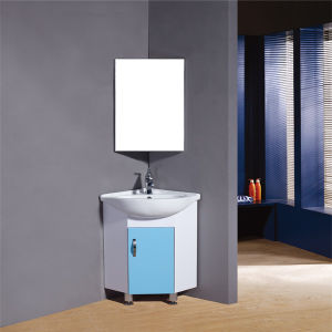 China Simple Design Pvc Corner Bathroom Cabinet With Mirror China Bathroom Vanity Bathroom Furniture