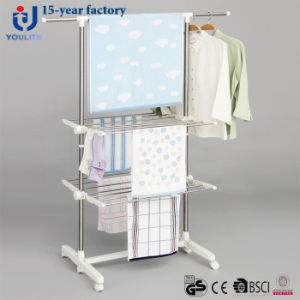 Stainless Steel Two Layer Telescopic Garment Hanger pictures & photos