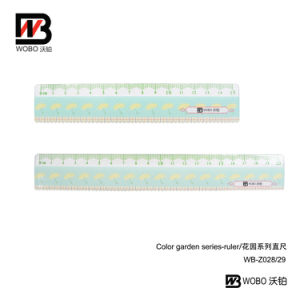 Office Stationery Cartoon Color Flat Plastic Ruler 15 20cm