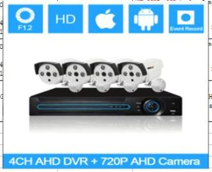 4 CH Ahd Kits, Waterproof Color CMOS 720p, Secuirty Ahd DVR Kit pictures & photos