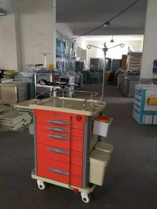 Hospital Medical Emergency Treatment Trolley Treatment Cart pictures & photos