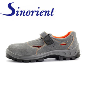 China Summer Suede Leather Slip Resistant Kitchen Safety Shoes