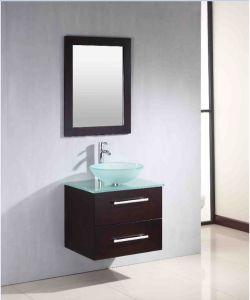 Charmant Fancy Bathroom Mirrors Vanity Cabinets With Glass Washbasin