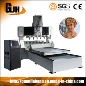 High Efficiency 3D 8 Spindle Stone CNC Router Dt2212s-8 pictures & photos