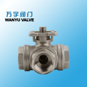 """L-Port Brass 3 Way Ball Valve 1//2/""""  BSP Female For Water Gas Steam Corrosion"""