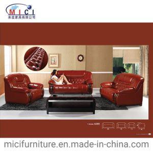 Wood And Leather Sofa Set