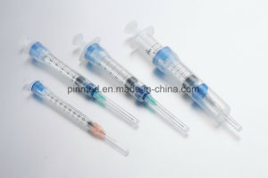 Disposable Sliding Sheath Safety Syringe pictures & photos