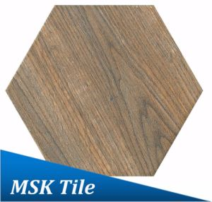 200X230 Porcelain Wood-Look Hexagon Tile Kl-07-Y2
