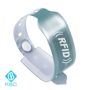 Soft PVC RFID F08 1k Dispassible Wristband/One-Time Used Bracelet