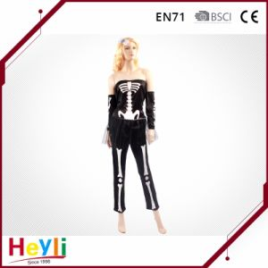 Halloween Party Skull Skeleton Dress Miss Sweetbone Cosplay Costumes pictures & photos