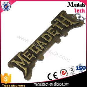Antique Bronze 3D Raised Letter Shape Metal Keychain for Boy pictures & photos