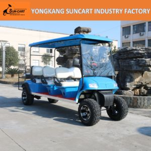 Electric Golf Carts, 8 Seater, with Rear Flip Flop Seat, Ry-Ez-801A, 6+2 Mini Sightseeing Bus, Electric Cart in Airport