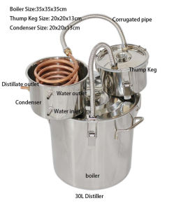 New Arrival 30L/8gal Hot Widely Home Used Alcohol Distillation Equipment