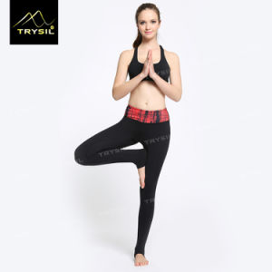 Lady Foot Legging with Waist Print Foot Pans for Yoga