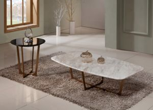 Morden Style Hotel Coffee Table with Nature Marble Top pictures & photos
