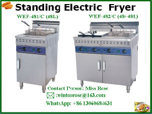 Popular Supply Commercial Stainless Steeel Standing Electric Fryer pictures & photos