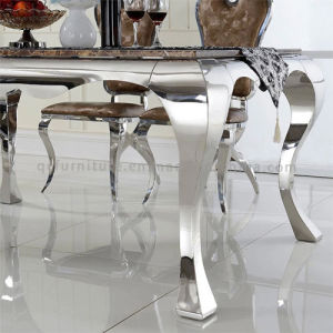 Table Frames Stainless Steel Marble Dining Table Set